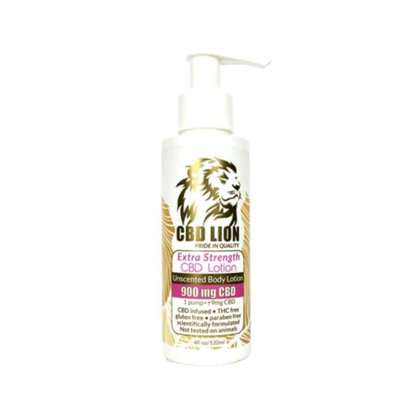CBD Lion Unscented CBD Lotion With Extra Strength 900mg