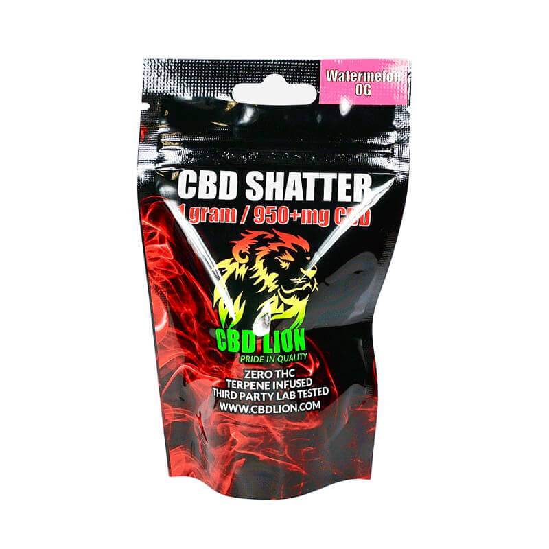 CBD Lion Watermelon OG CBD Shatter 960mg