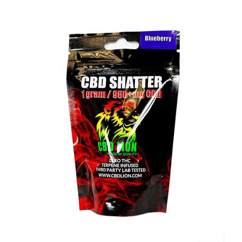 CBD Lion Blueberry CBD Shatter 960mg