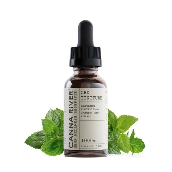 Canna River Peppermint Broad Spectrum CBD Tincture 1000mg