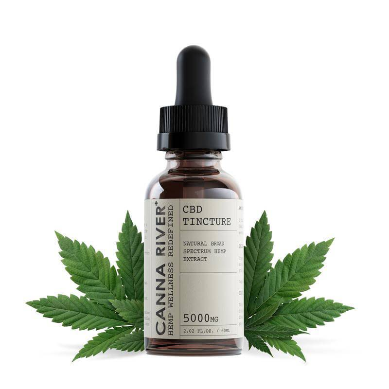 Canna River Naturally Flavored Broad Spectrum CBD Tincture 5000mg
