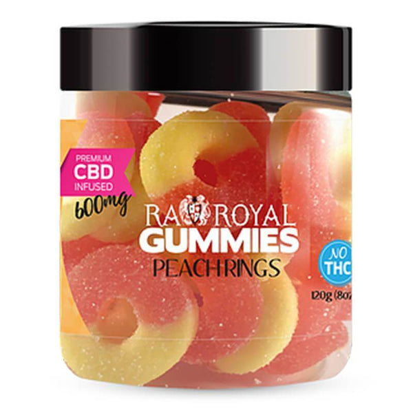 RA Royal CBD Peach Ring Gummies 600mg