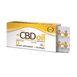 PlusCBD Oil Gold Blend Full Spectrum CBD Softgels 15mg 10 count