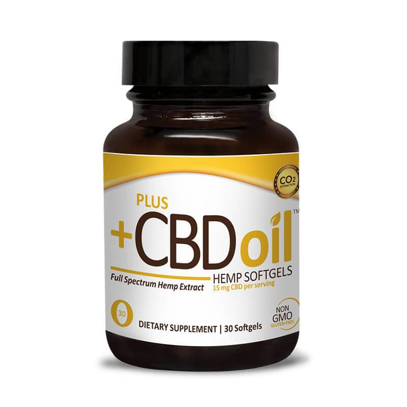 PlusCBD Oil Gold Blend Full Spectrum CBD Softgels 15mg 30 count