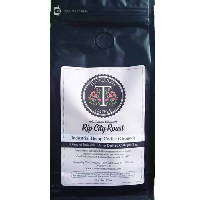 Tranquility Tea Company Rip City Roast  CBD Coffee 900mg