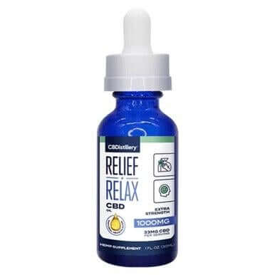 CBDistillery Relief+Relax Broad Spectrum CBD Tincture 500mg - 2500mg