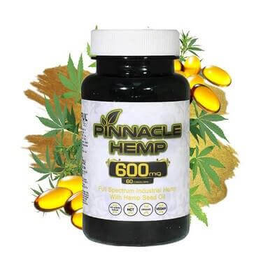 Pinnacle Hemp CBD Capsules 10mg