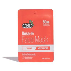 CBDFX Rose CBD Face Mask 50mg