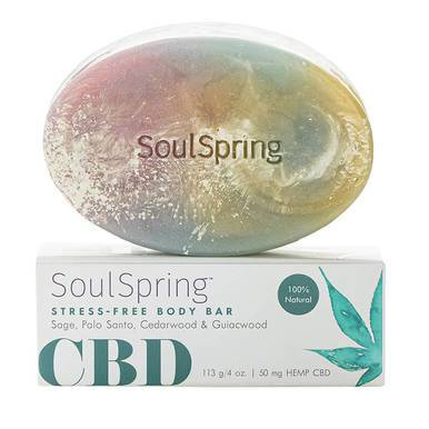 SoulSpring Stress-Free CBD Body Bar 50mg