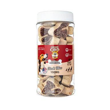 Kangaroo CBD CBD Dog Treats Steak Bites - 150mg