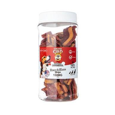 Kangaroo CBD CBD Dog Treats Bacon And Cheese Strips - 150mg