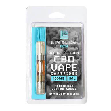 Limitless CBD Blueberry Cotton Candy CBD Cartridge 100mg