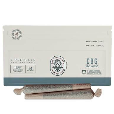 Root Wellness The White CBG Pre-Roll 2 Pack