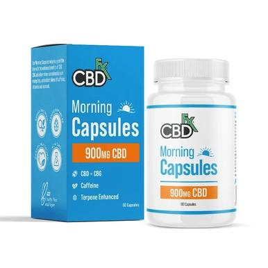 CBDFX CBD + CBG Morning Capsules For Energy & Focus 900 mg