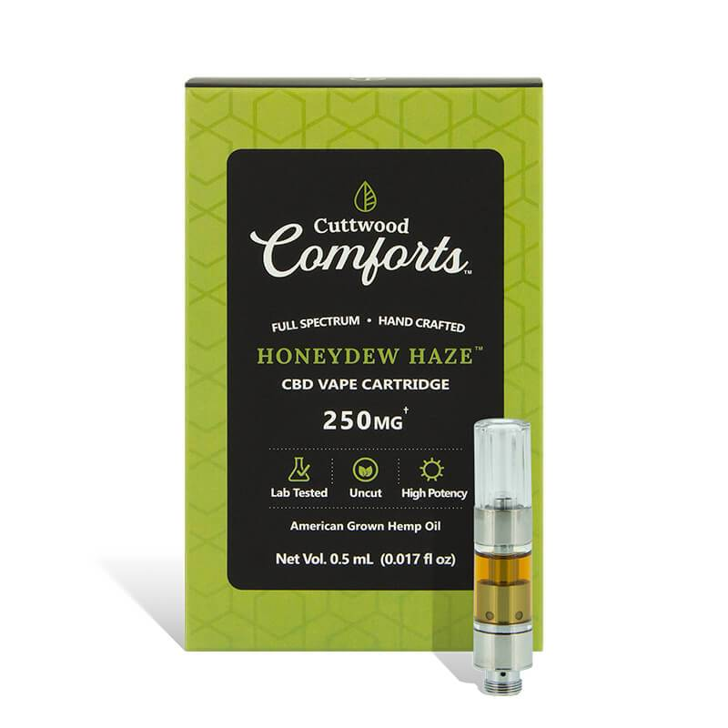 Cuttwood Comforts Honeydew Haze CBD Cartridge 250mg