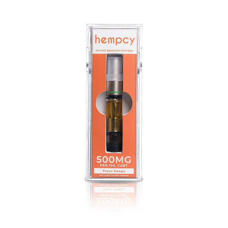 Hempcy  Focus Mango CBD Cartridge  500mg