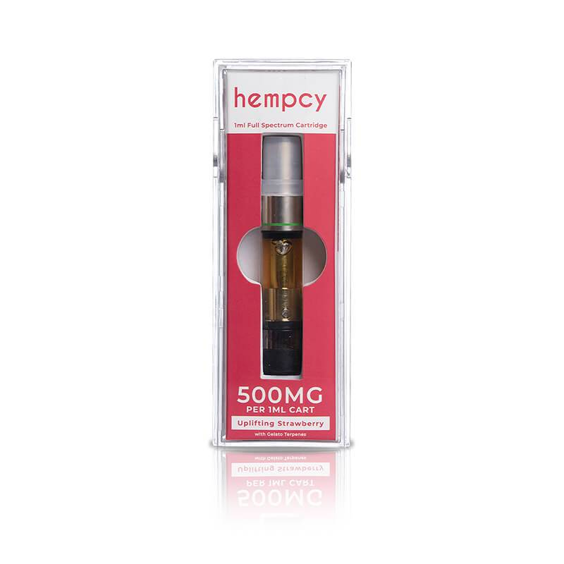 Hempcy Uplifting Strawberry CBD Cartridge  500mg