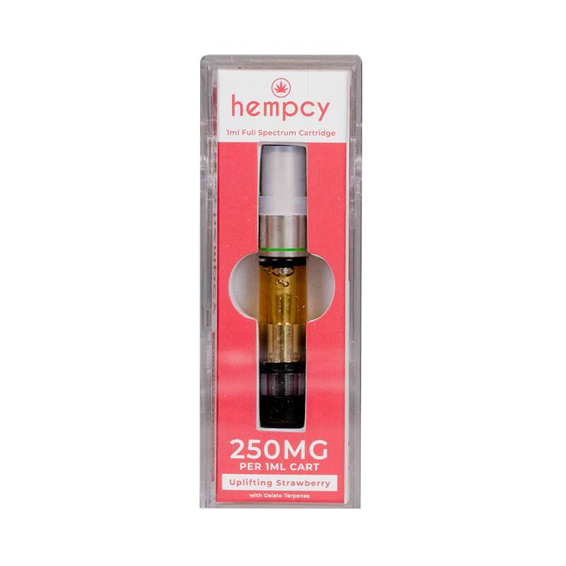 Hempcy Uplifting Strawberry CBD Cartridge 250mg