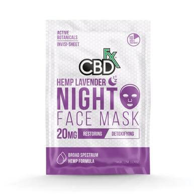 CBDFX Lavender Night CBD Face Mask 20mg