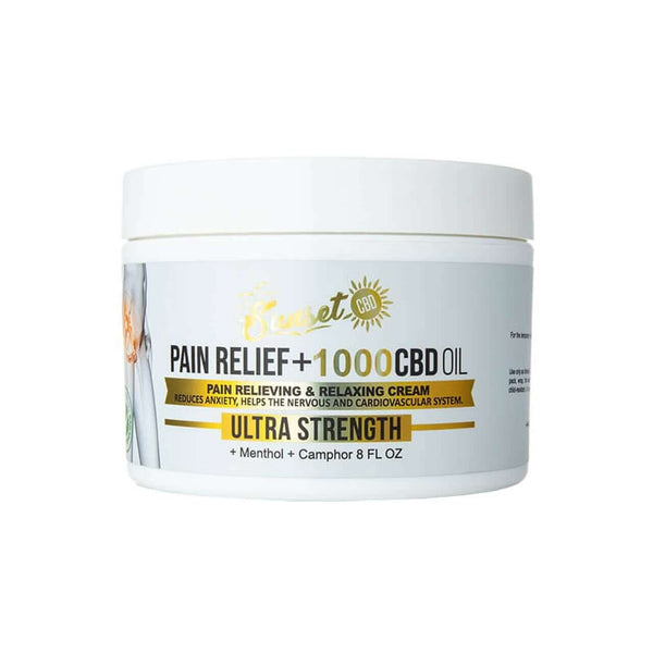 Pain Relief CBD Cream By Sunset CBD
