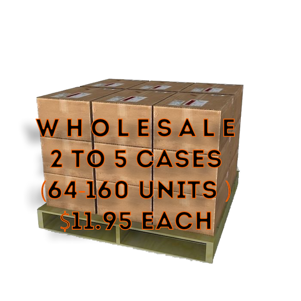 Wholesale 2-5 Cases $11.99 each (32 Units per case)