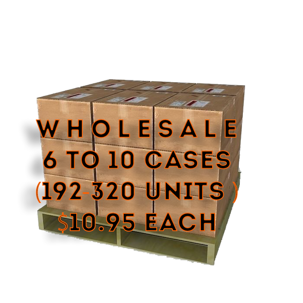 Wholesale 6+ Cases $10.99 each (32 Units per case)