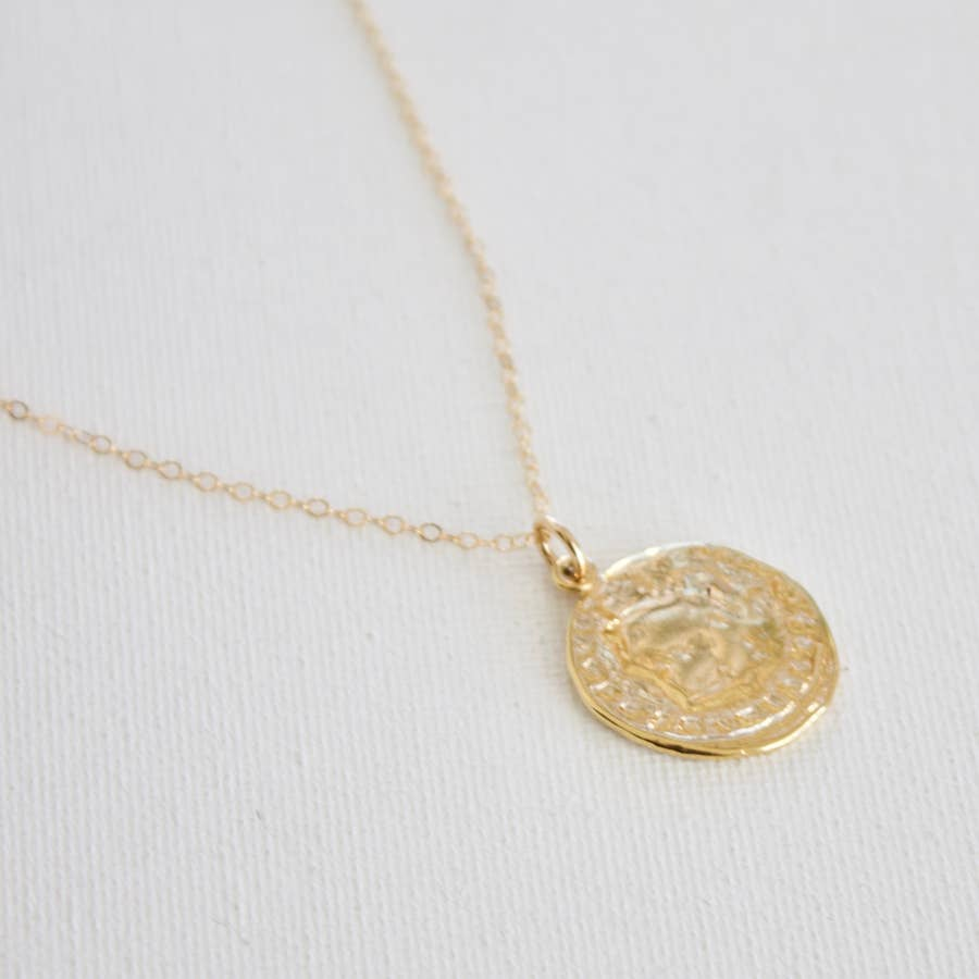 Gold Cable Chain with Coin