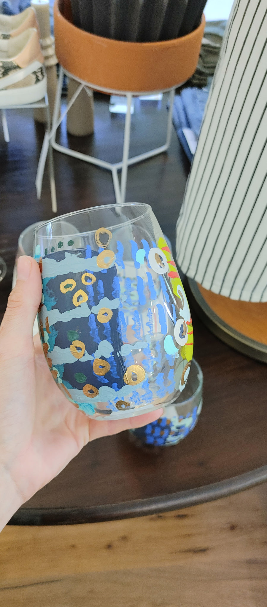 Evil Eye Wine Glasses Stemless