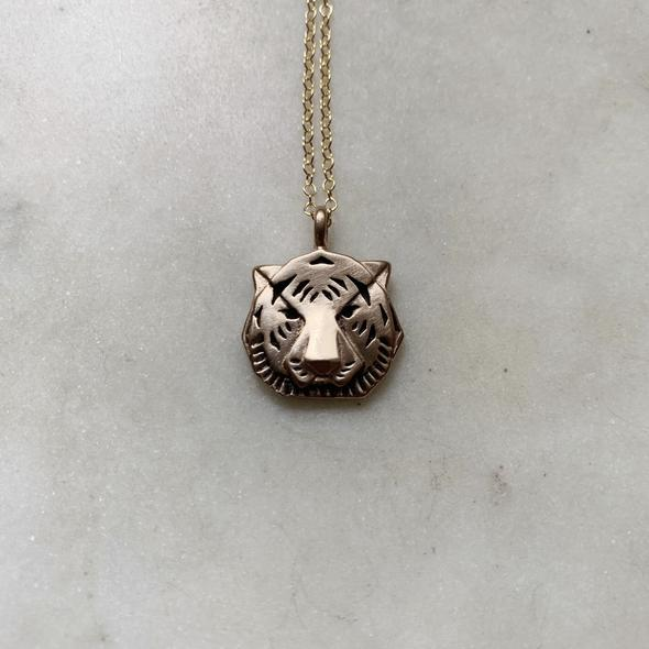 Mimosa Jewelry- Tiger Pendant Necklace Small