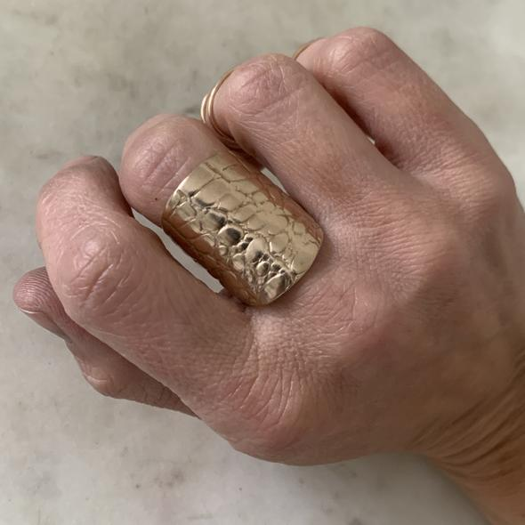 Mimosa Alligator Skin Ring