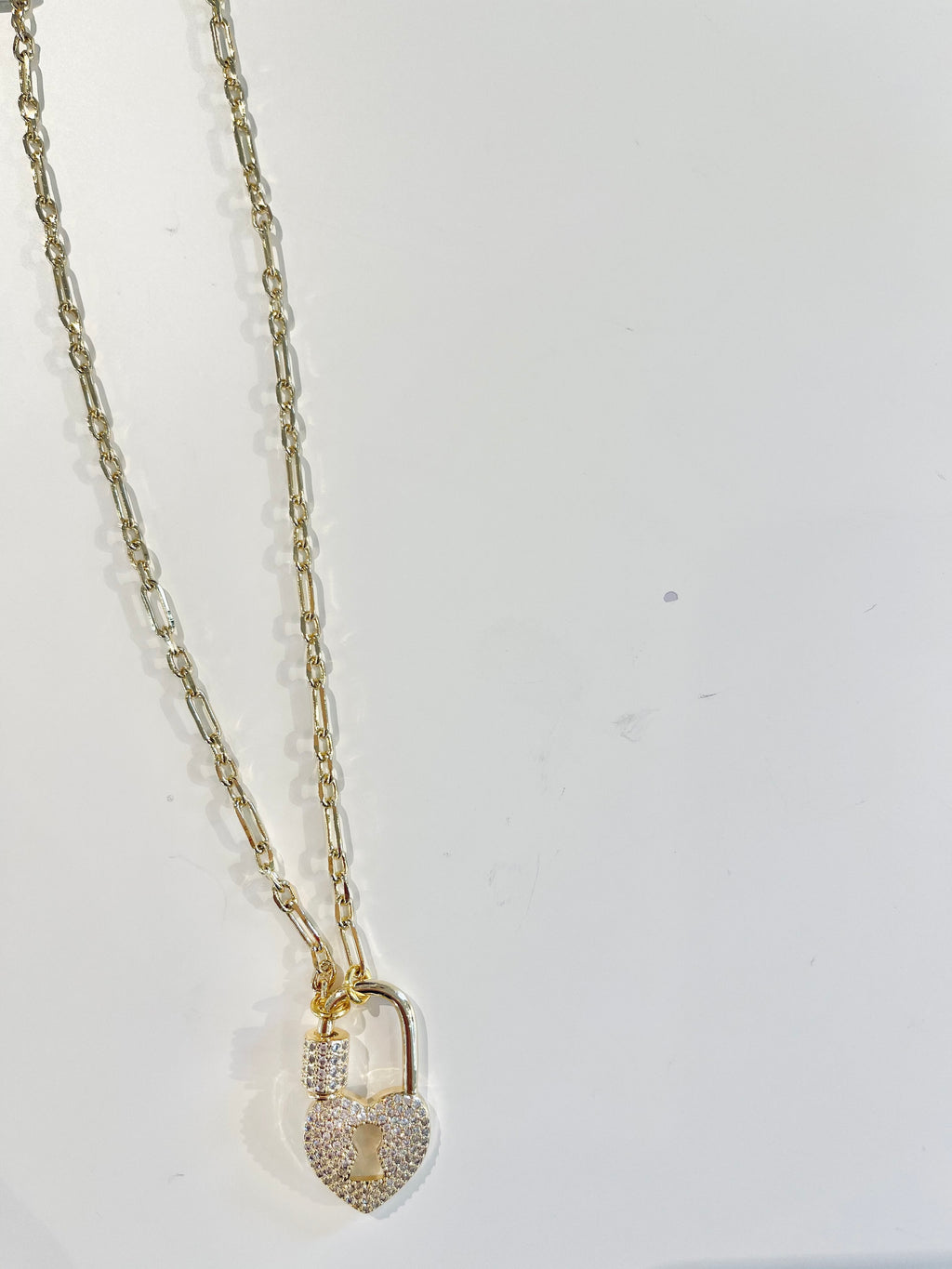 Heart Lock Taliah Pavé Necklace Collection