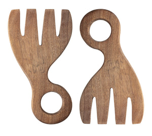 Acacia Wood Salad Servers- Set of 2