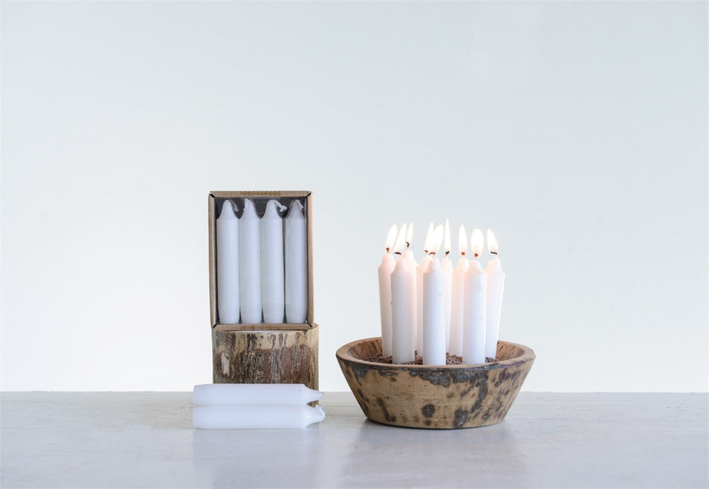 Unscented Taper Candles Box Set