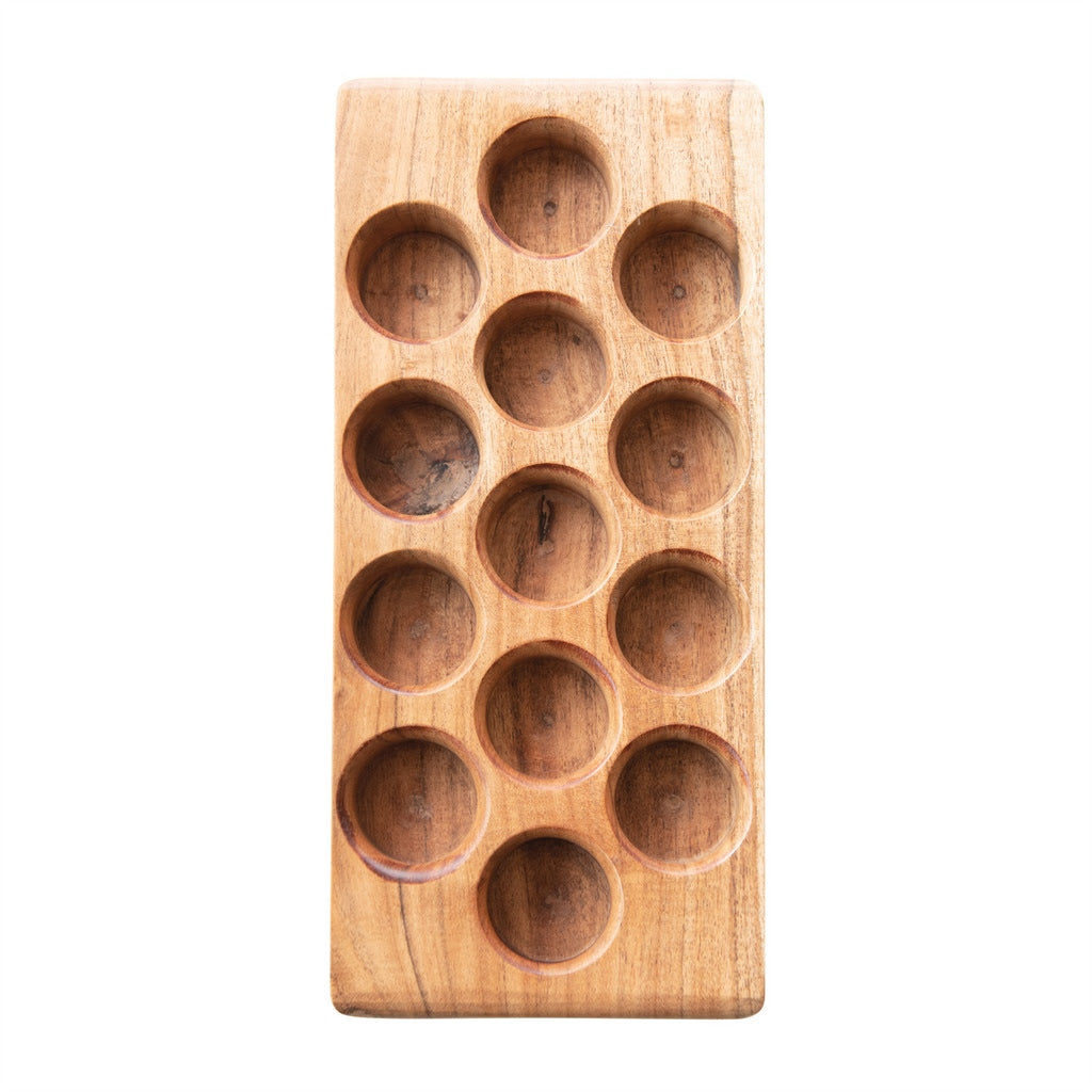 Acacia Wood Egg Tray