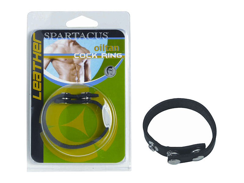 Spartacus Leather Cock Gear Plain Leather Cock Ring