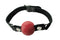 Spartacus Leather Nickel Free 2 inches Silicone Removable Ball Gag Large Red
