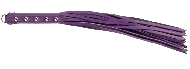 LEATHER 20IN STRAP WHIP PURPLE