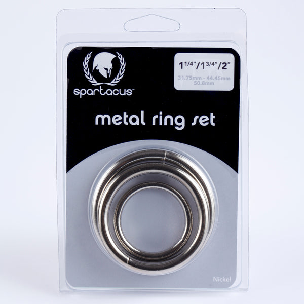 Spartacus Metal Cock Ring 3 Piece Set