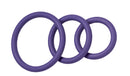 NITRILE COCK RING SET-PURPLE