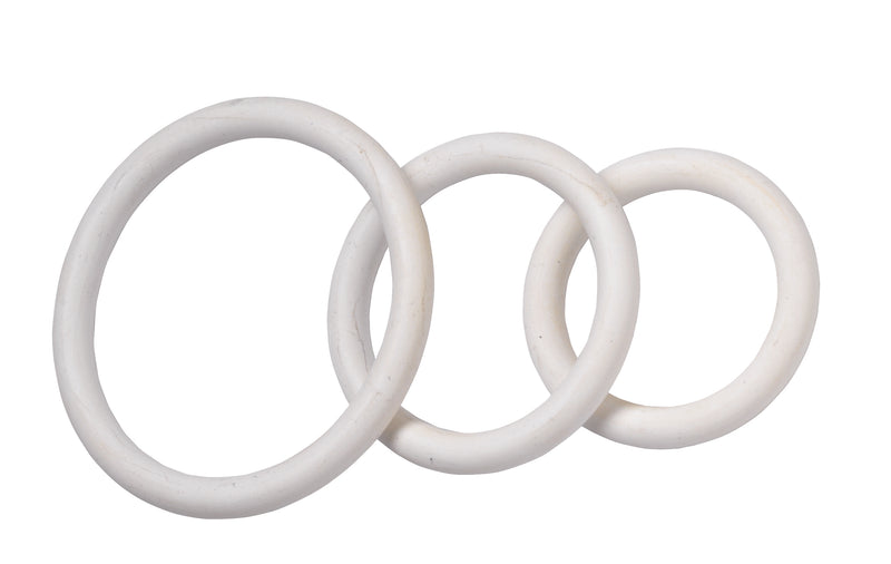 NITRILE COCK RING SET-WHITE