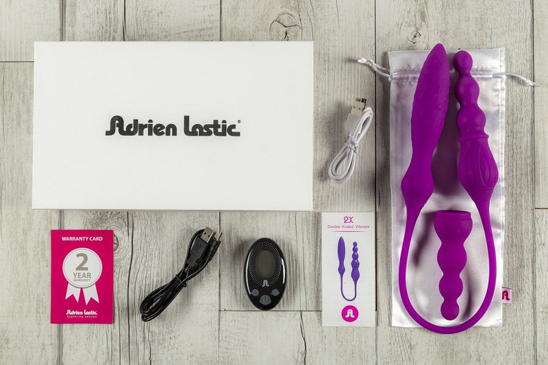 Adrien Lastic 2X Double Ended Vibrator with Remote Control