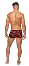 Male Power Underwear Short Sheer Lips Black Medium