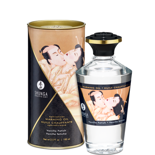 Shunga Erotic Art Aphrodisiac Warming Oil Vanilla 3.5 Oz