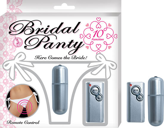BRIDAL PANTY WHITE VIBRATING