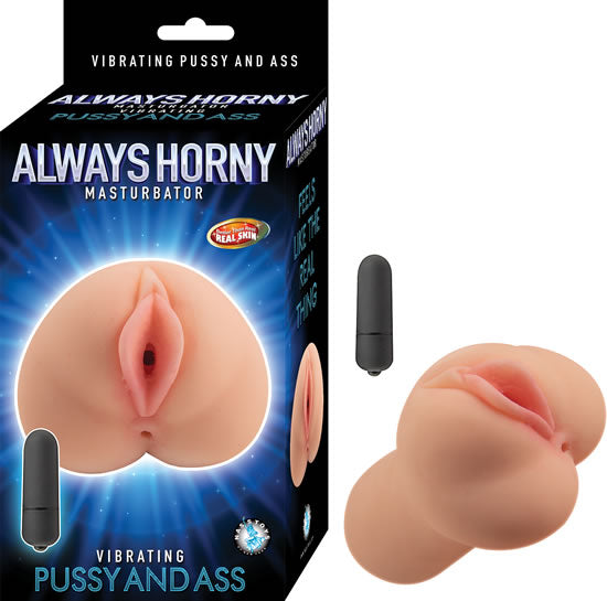 Always Horny Masturbator Vibrating Pussy and Ass