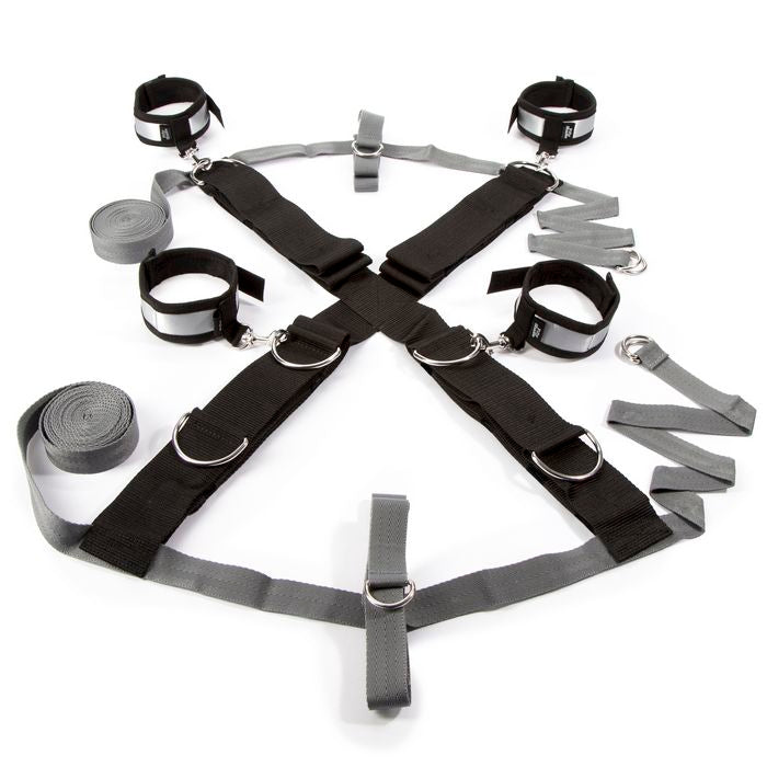 Fifty Shades of Grey Playroom Over the Bed Cross Restraints Silver