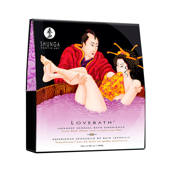 Shunga Erotic Art Lovebath Sensual Lotus