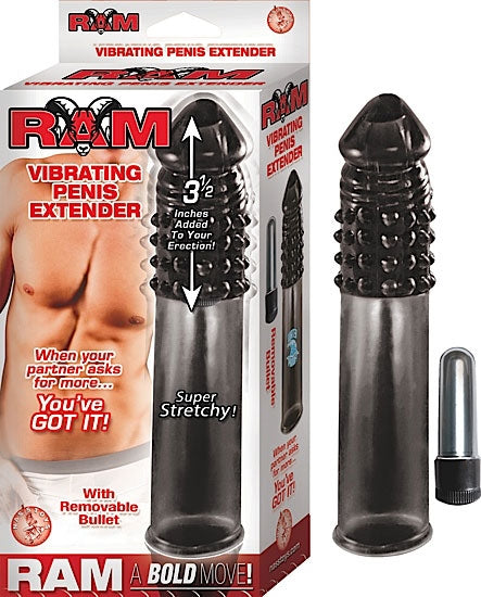 RAM VIBRATING PENIS EXTENSION SMOKE