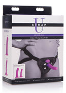 Strap Strap On Double-G Deluxe Vibrating Silicone Strap On Kit