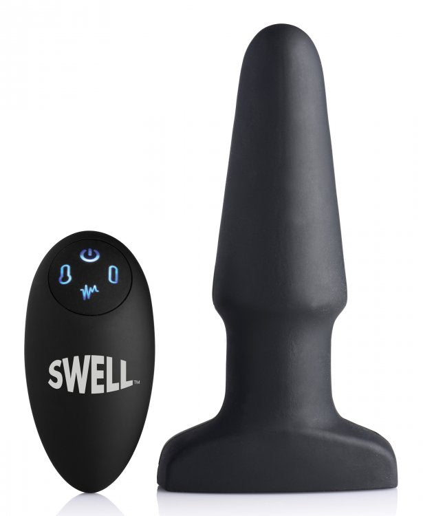 Swell 10X Silicone Inflatable and Vibrating Anal Plug
